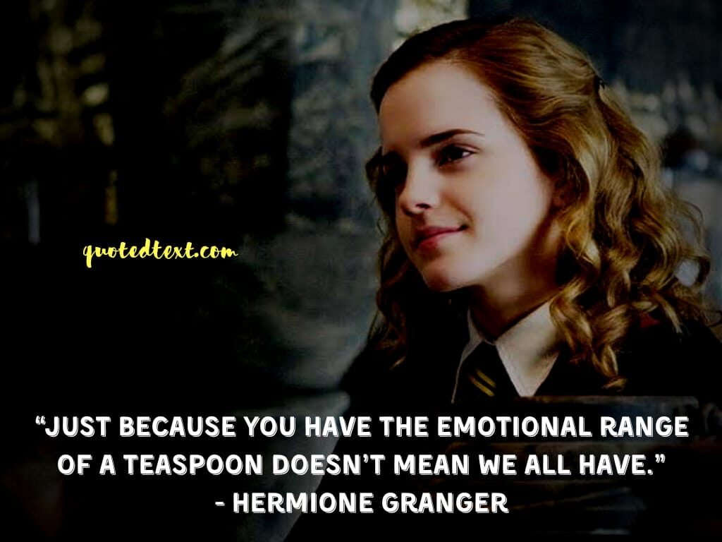 harry potter quotes by hermione granger on emotions