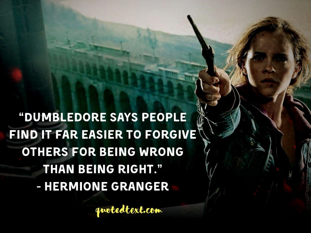 quotes by hermione granger on forgiving