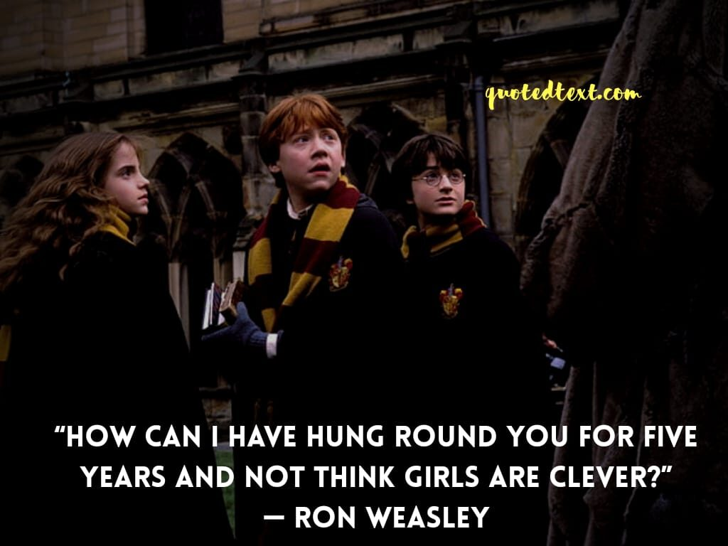 quotes by ron weasley on girls