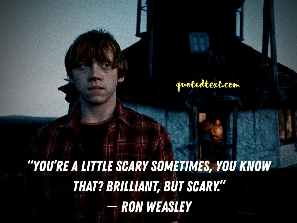 harry potter quotes by ron weasley on scared
