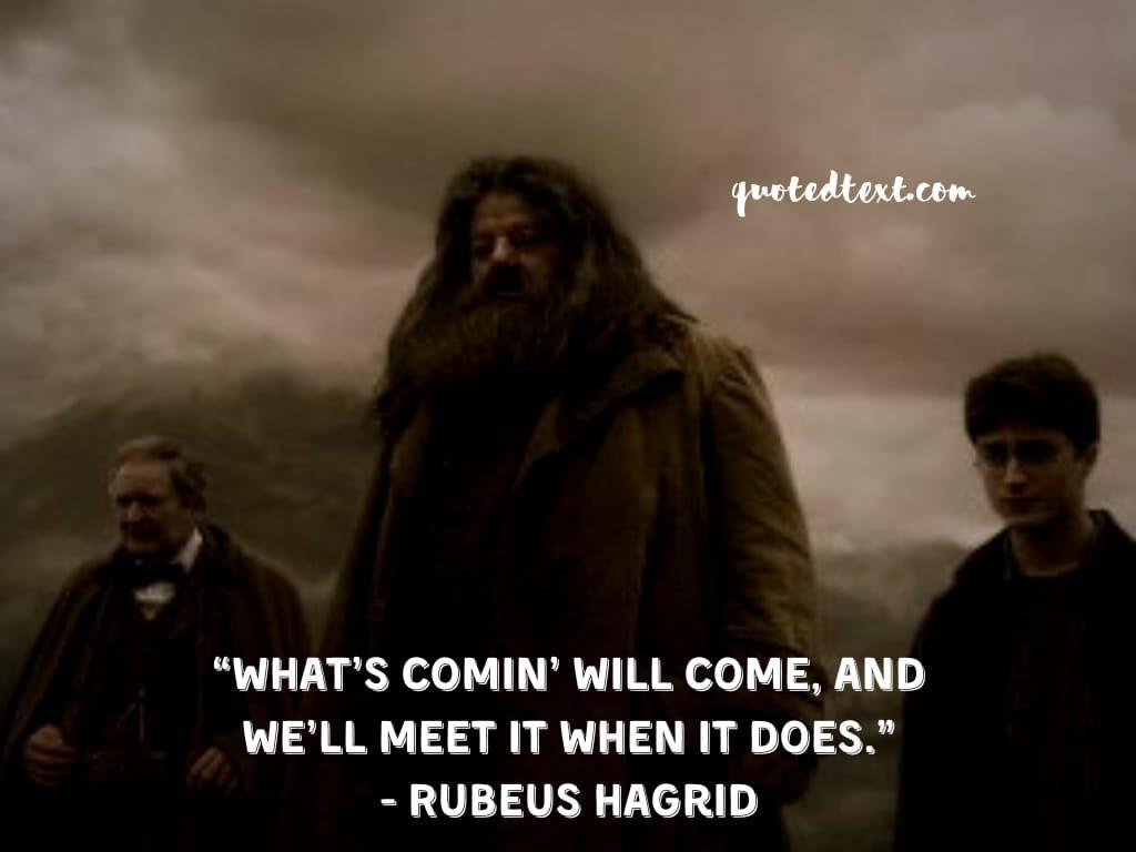 rubeus hafrid quotes on life