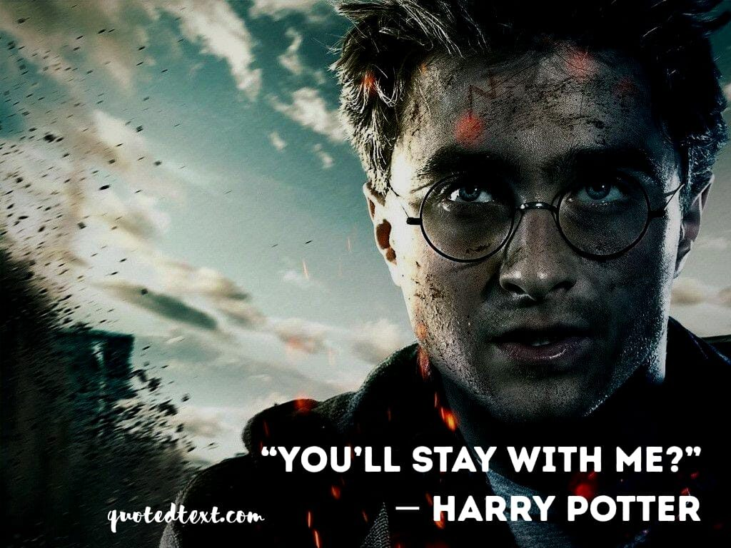 harry potter quotes on staying