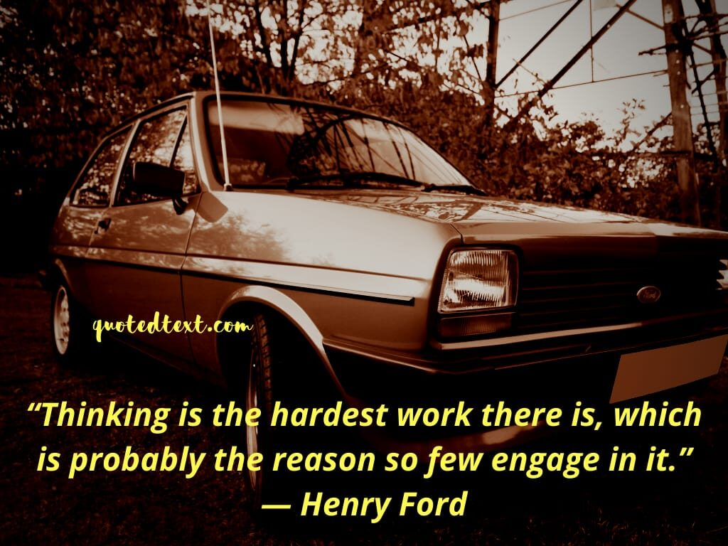 henry ford quotes on thinking