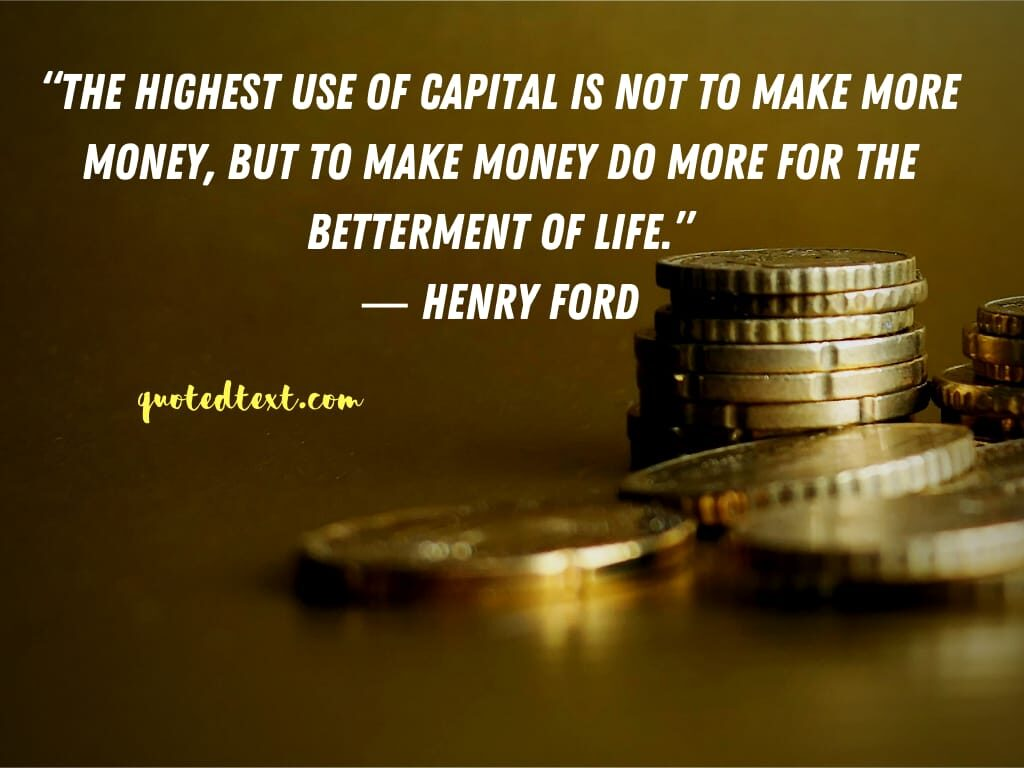 henry ford quotes on money