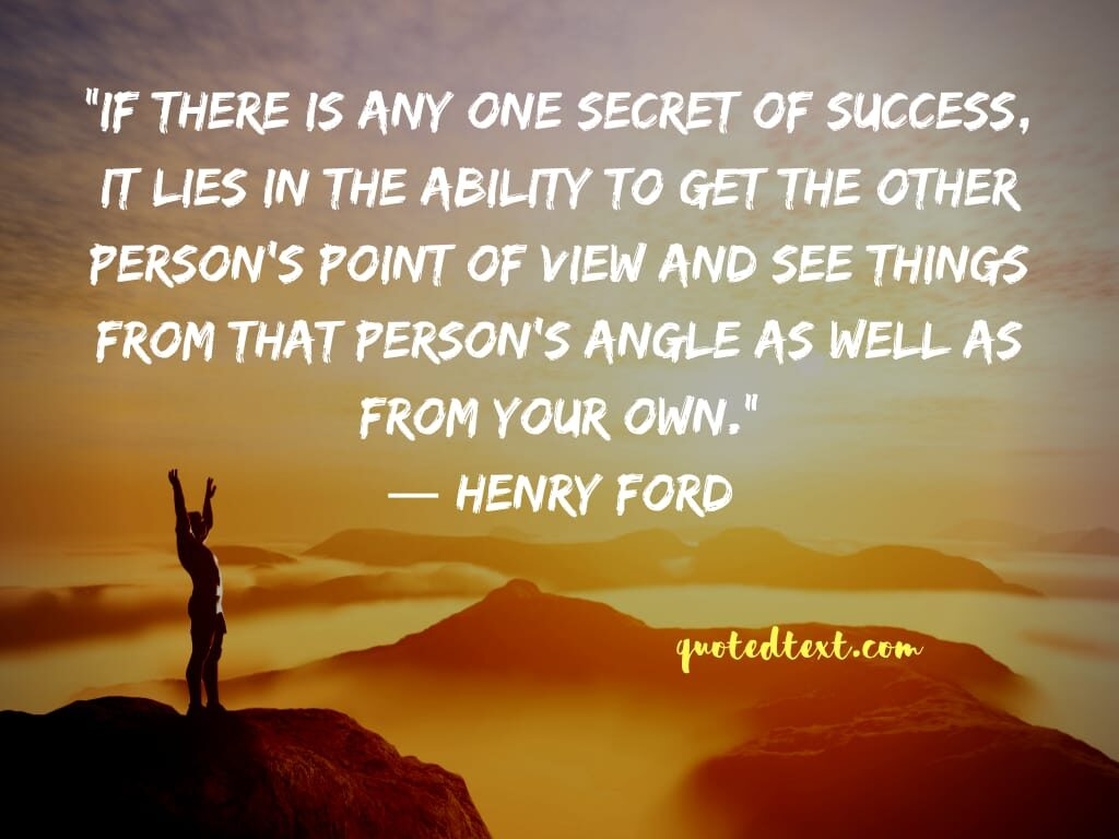 henry ford quotes on success secret