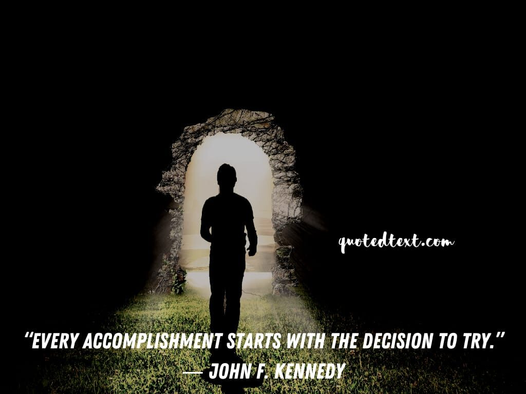 john f. kennedy quotes on decisions