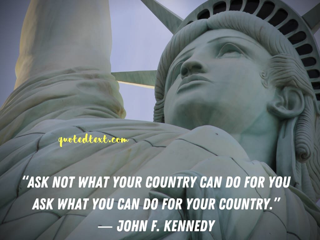 john f. kennedy quotes on country