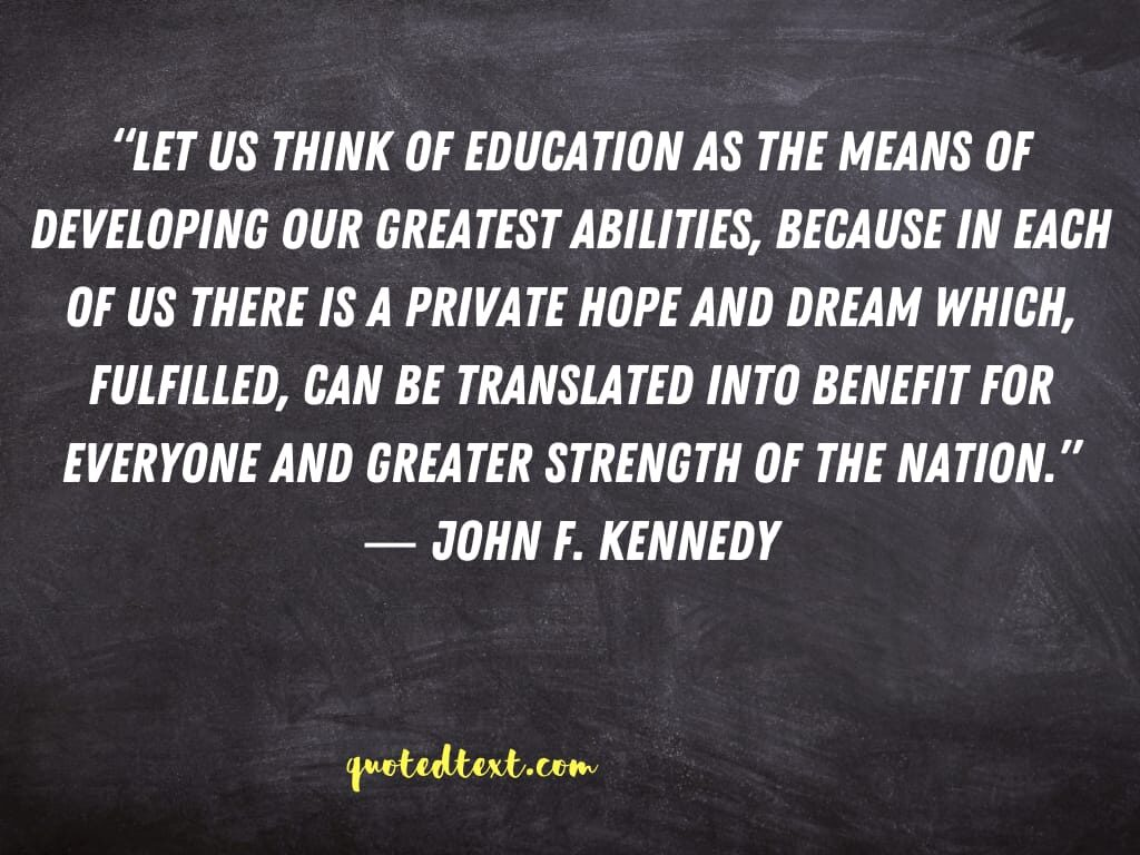 john f. kennedy quotes on education