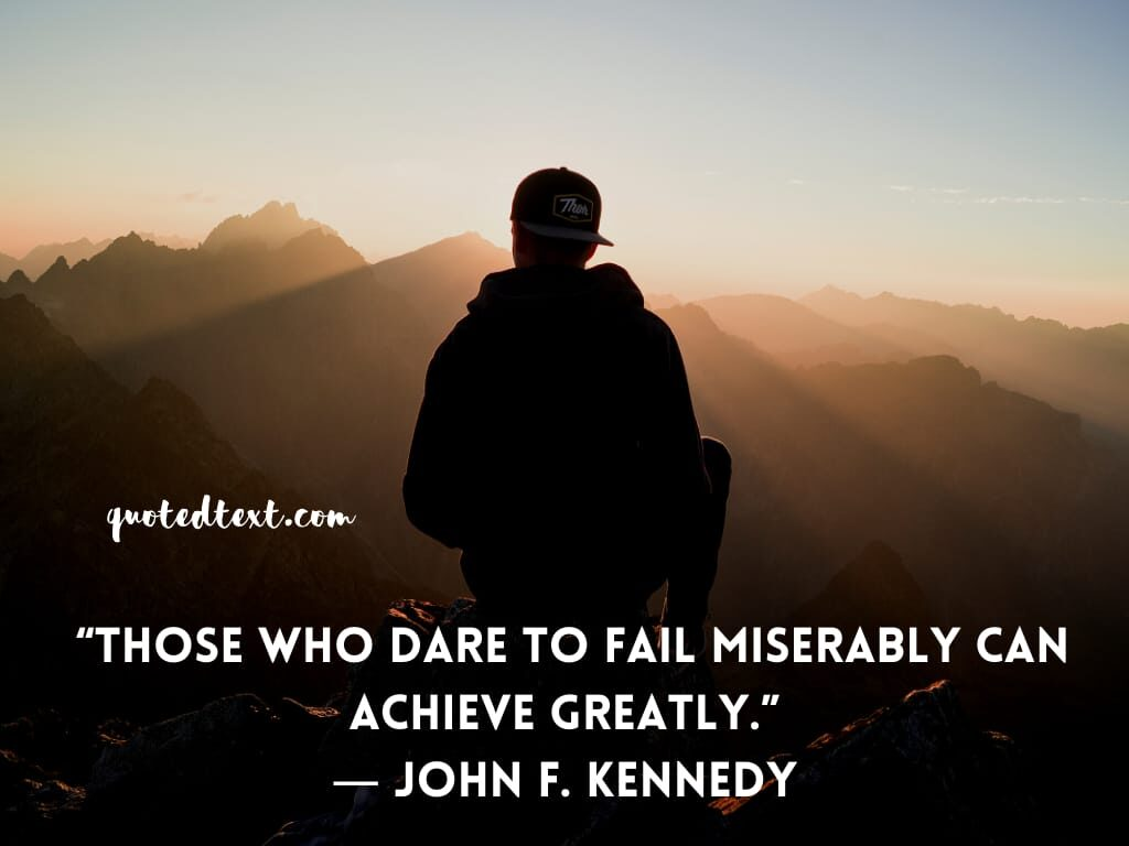 john f. kennedy quotes on failing