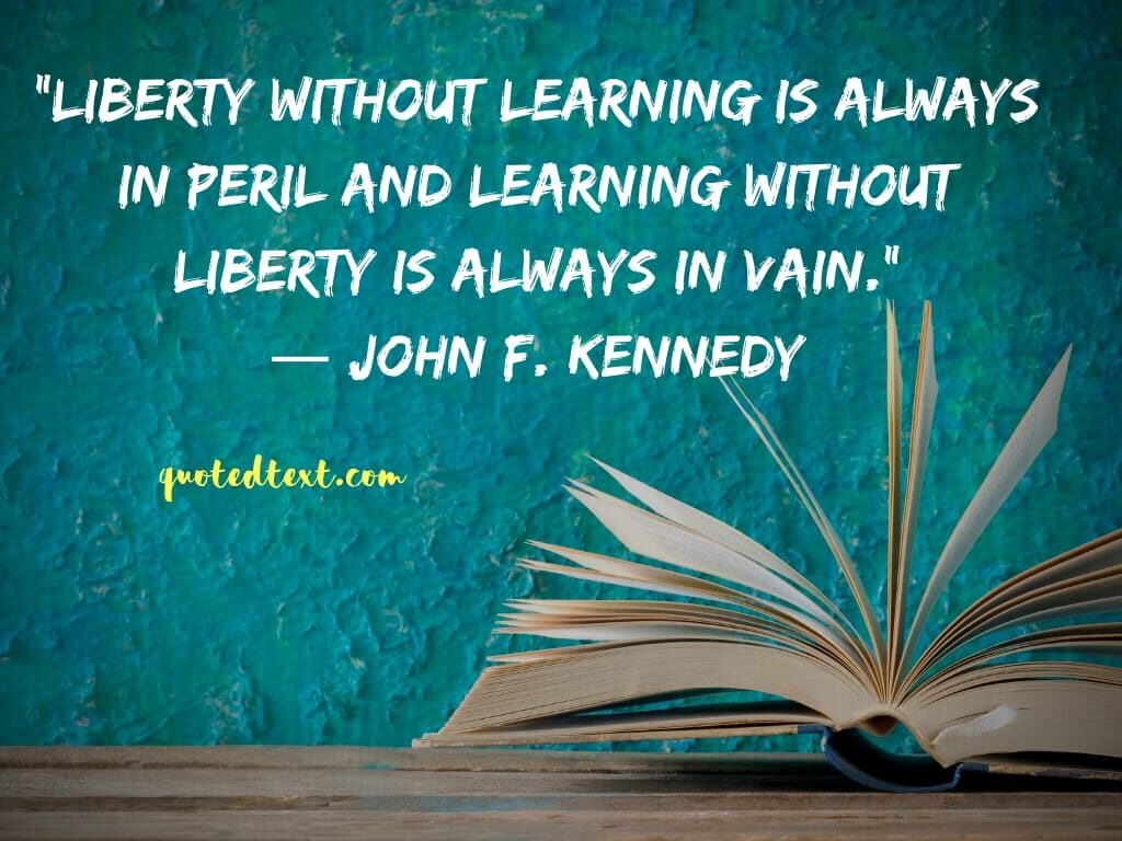 john f. kennedy quotes on learning