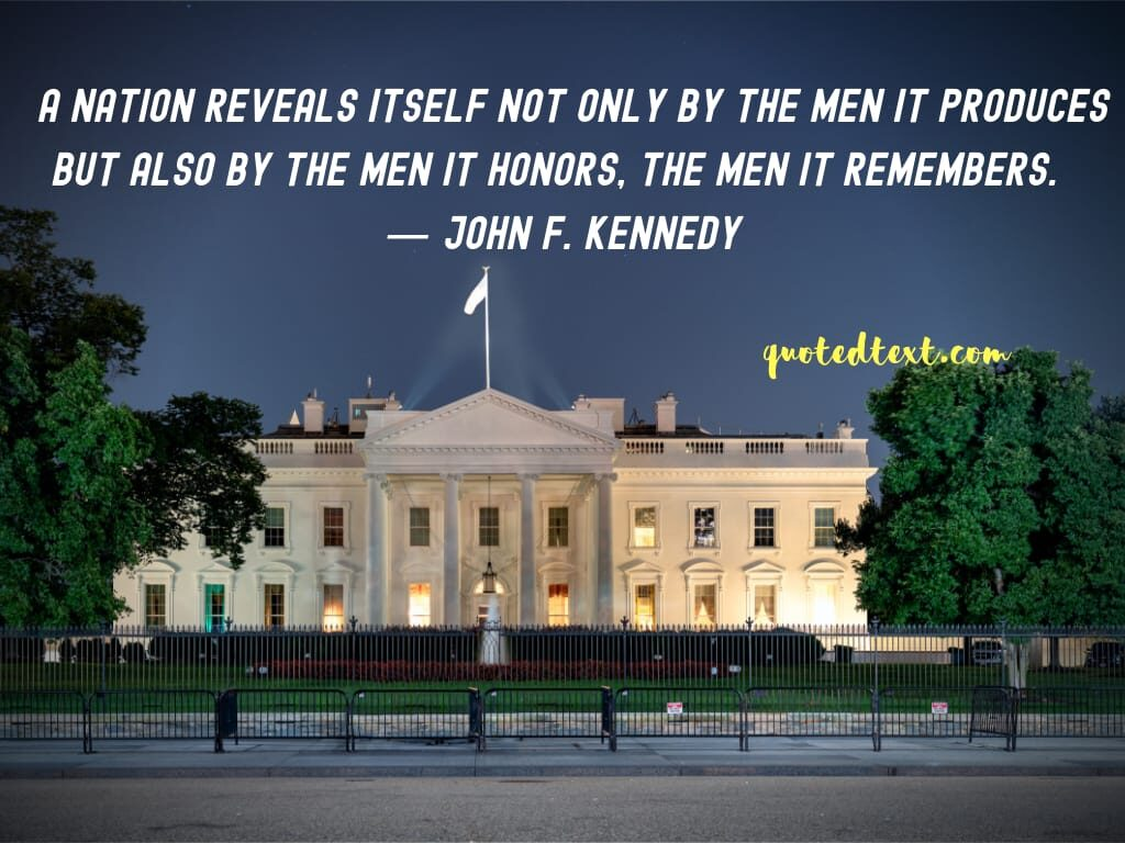 john f. kennedy quotes on nation