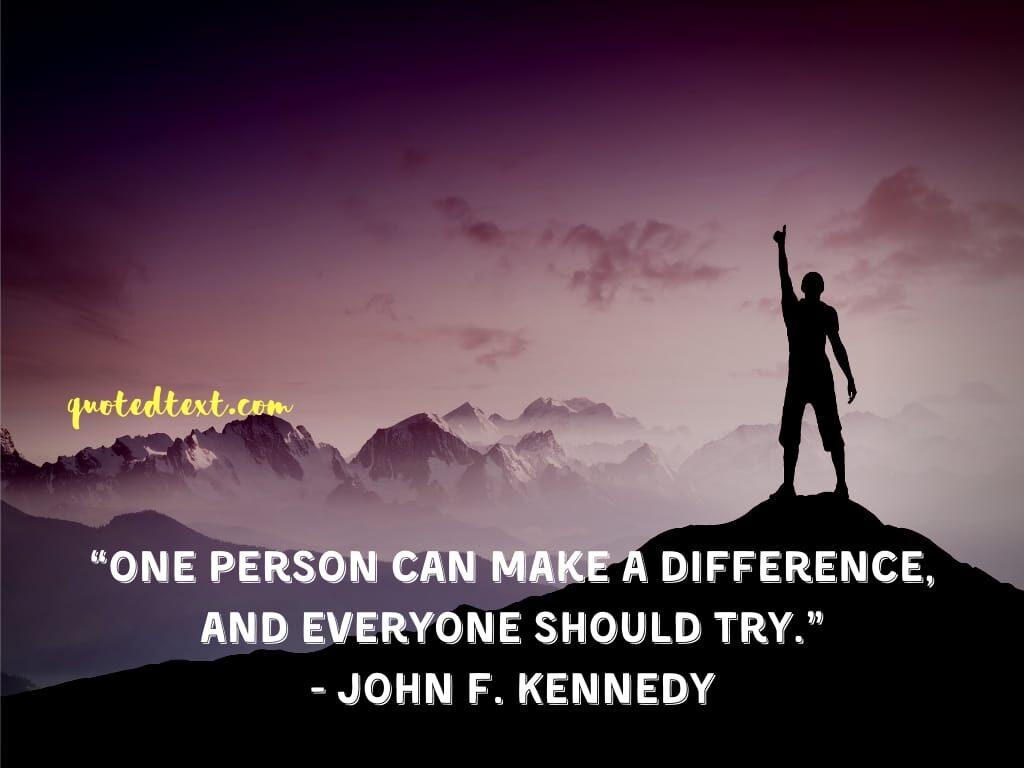 john f. kennedy quotes on trying