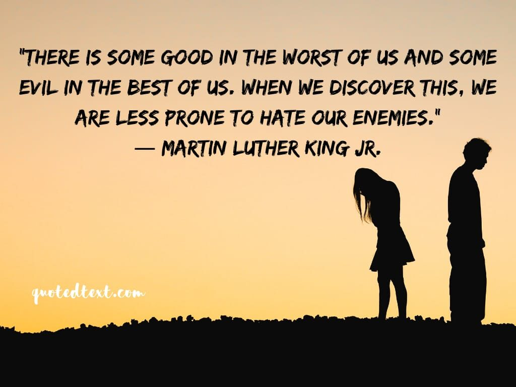 Martin Luther King quotes on friends and enemies
