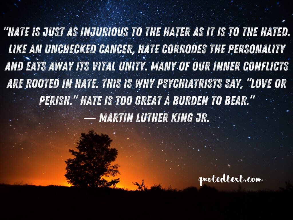 Martin Luther King quotes on hate