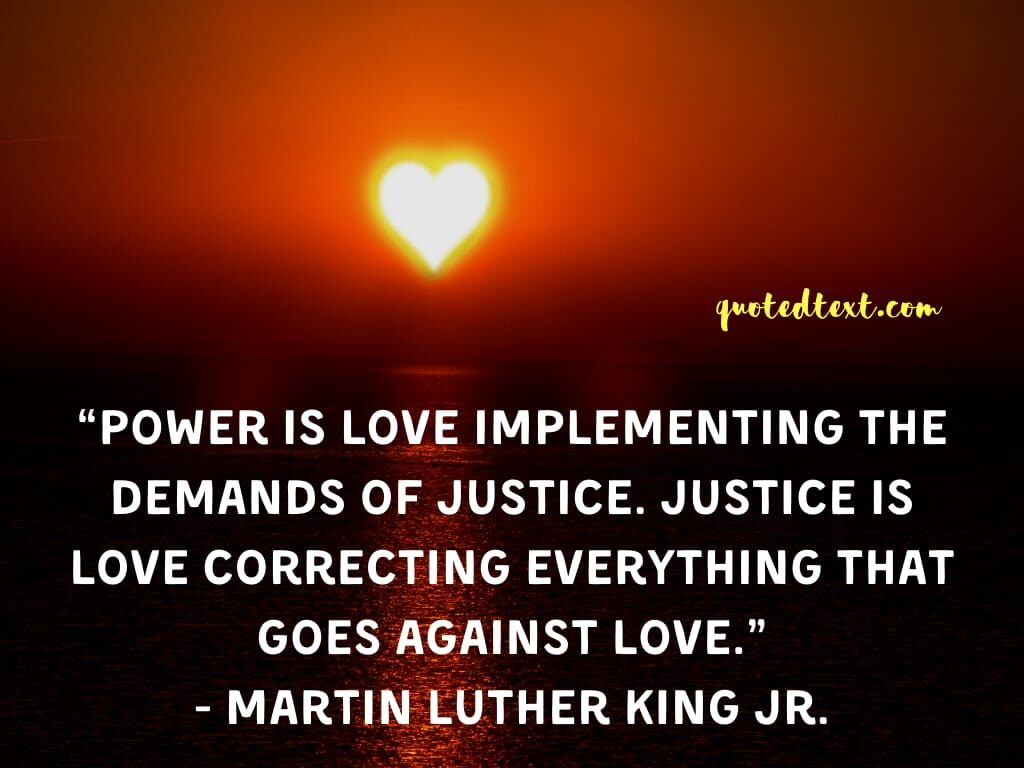 Martin Luther King quotes on power of love