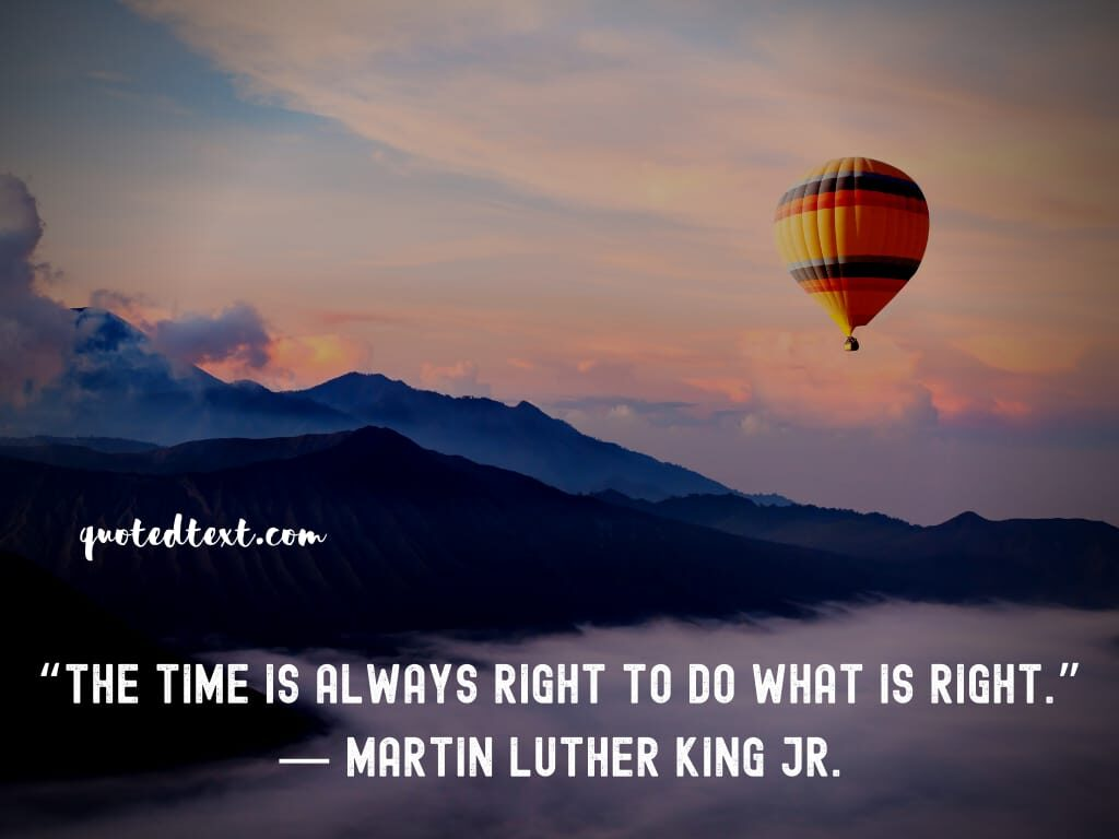 Martin Luther King quotes on time