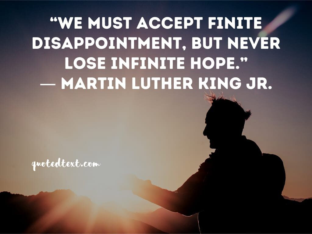 Martin Luther King quotes on disappointment