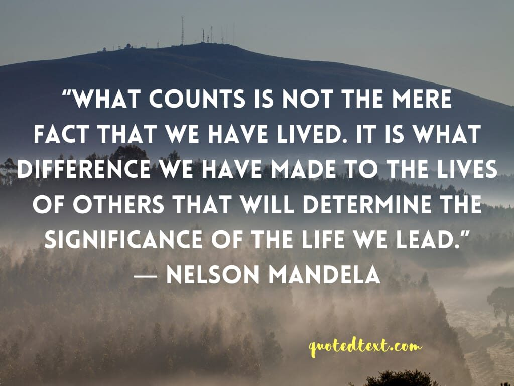 nelson mandela quotes on life living