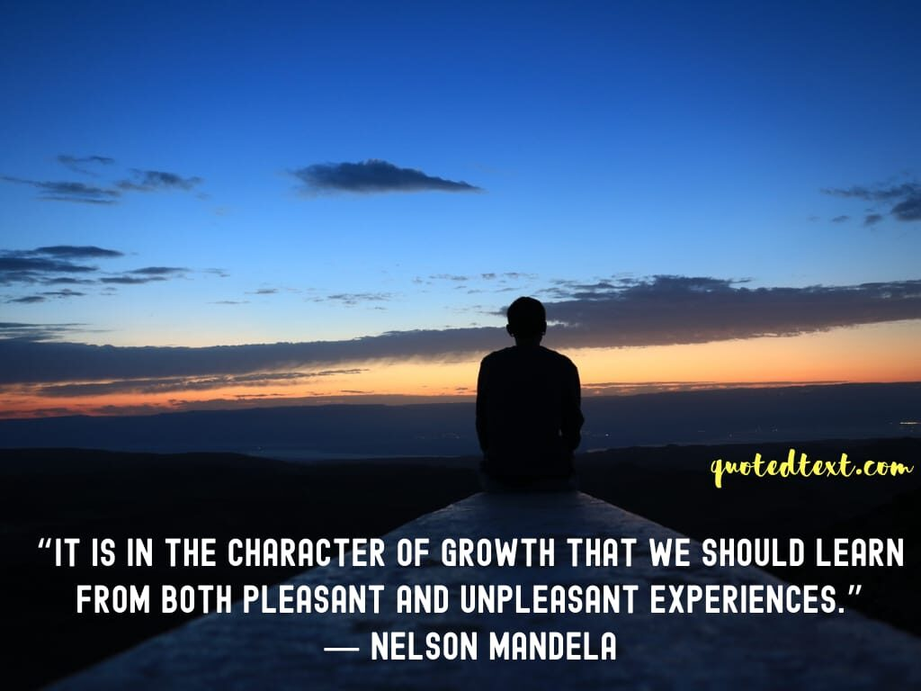 nelson mandela quotes on experiences