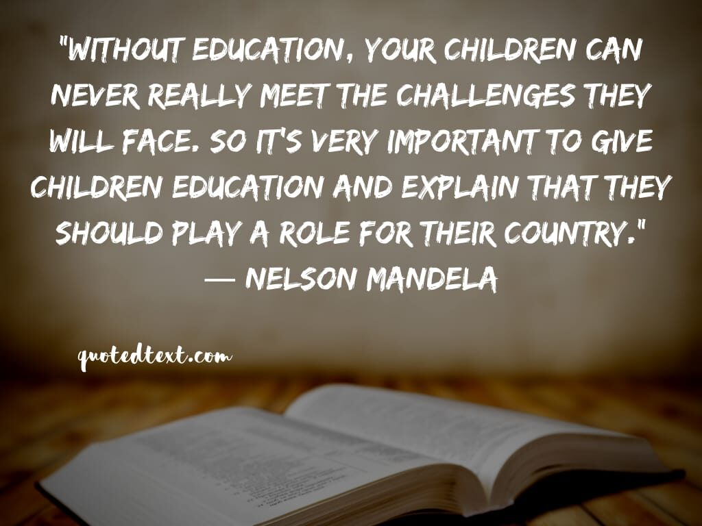 nelson mandela quotes on education and children