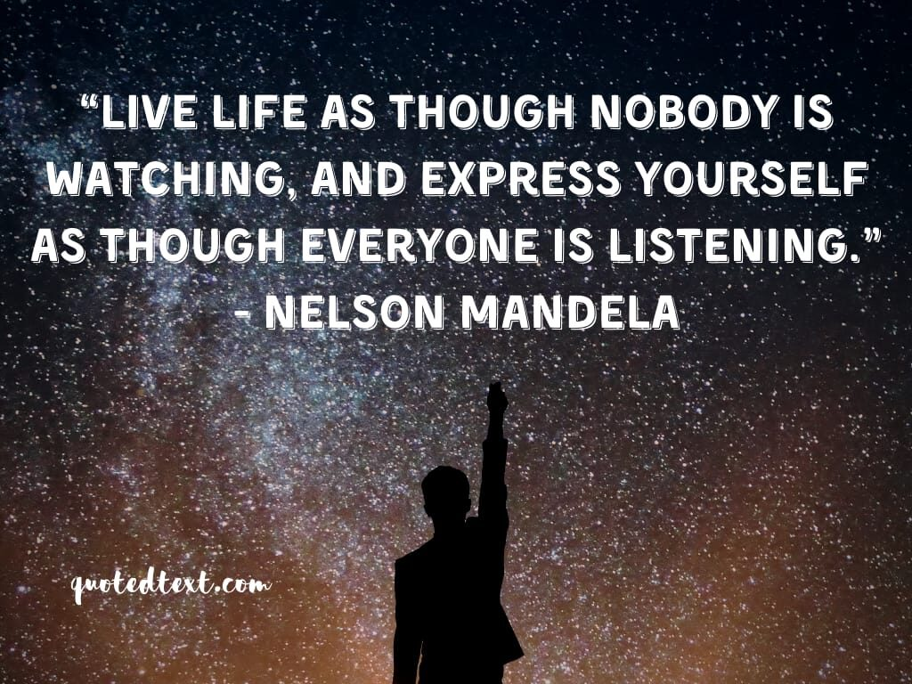 nelson mandela quotes on live life