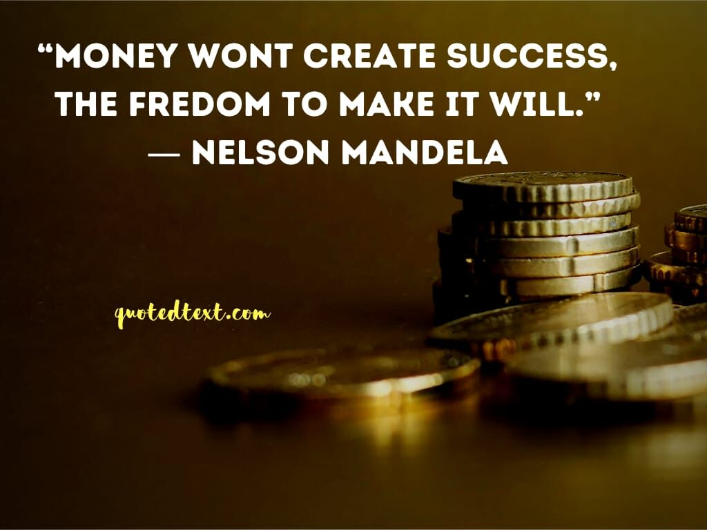 nelson mandela quotes on money
