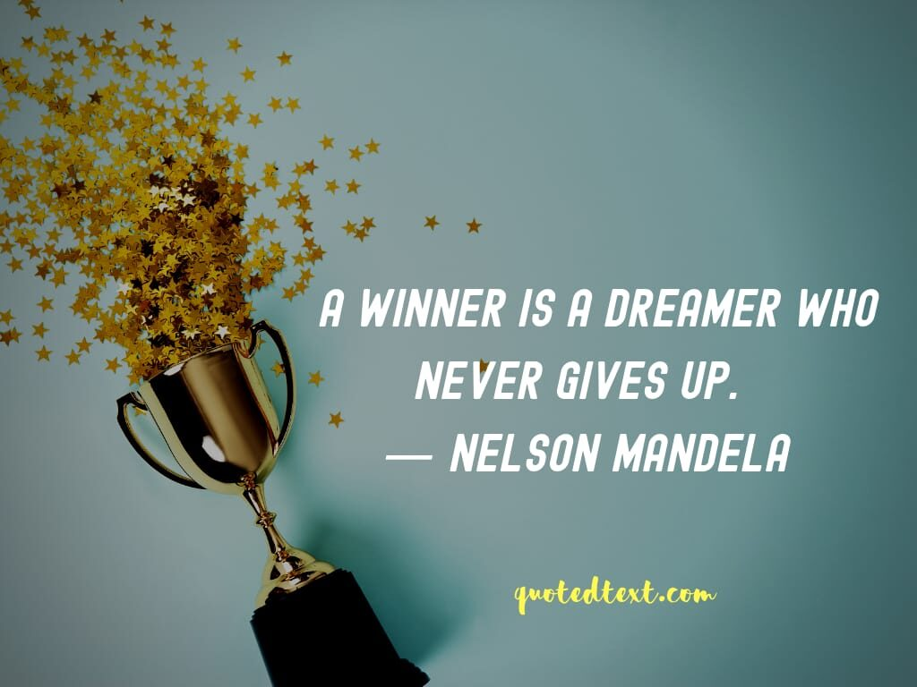 nelson mandela quotes on winner