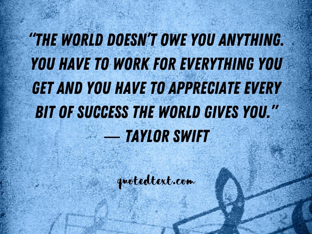 taylor swift quotes on success