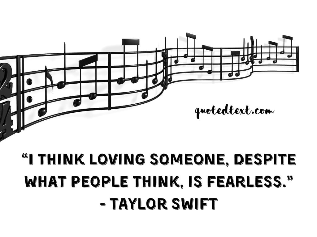 taylor swift quotes on loving someone