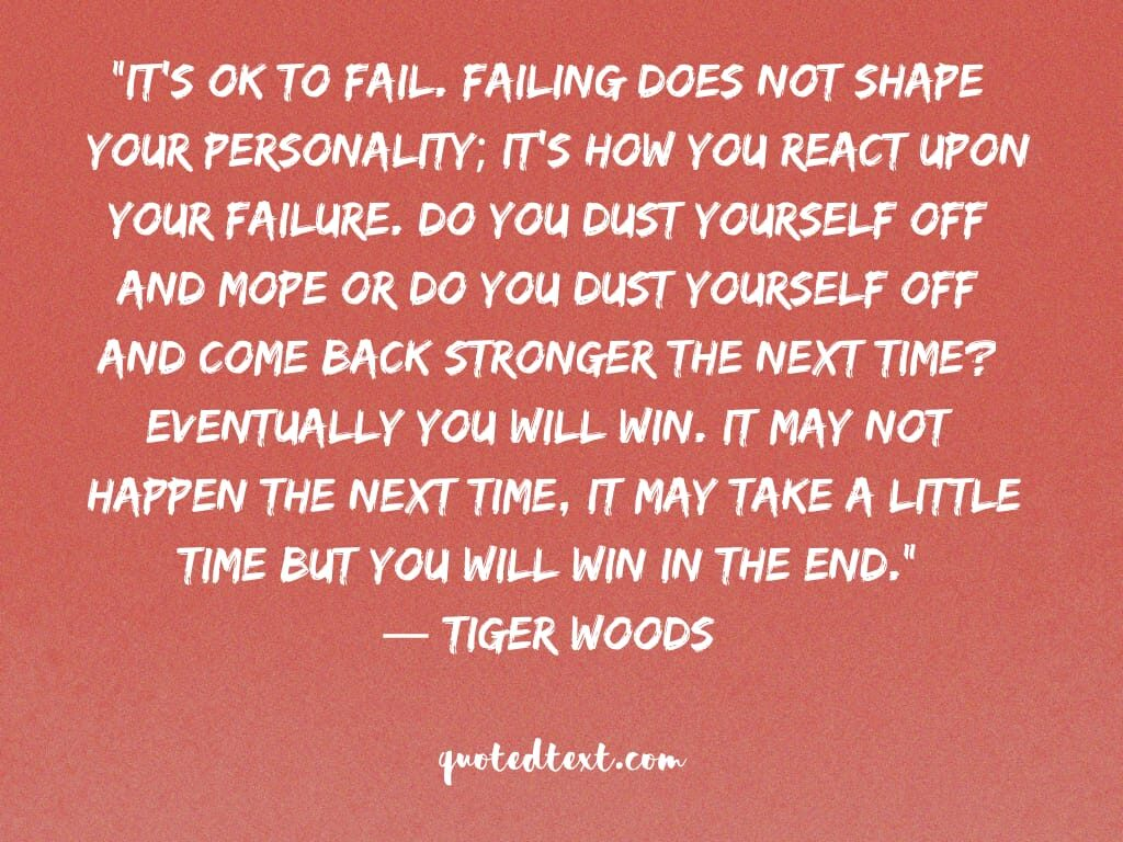 tiger woods quotes on failing