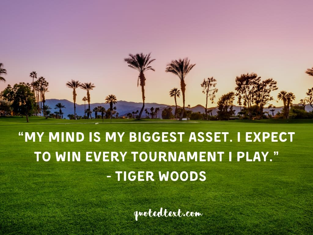 tiger woods quotes on mind