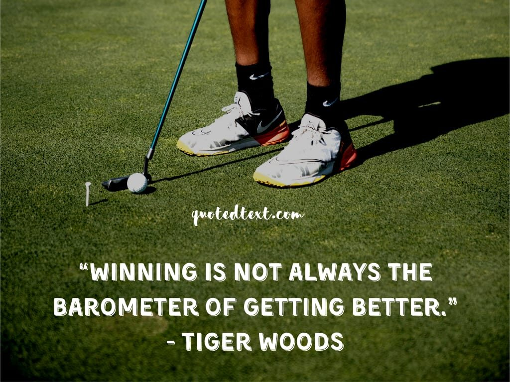 tiger woods quotes on winning