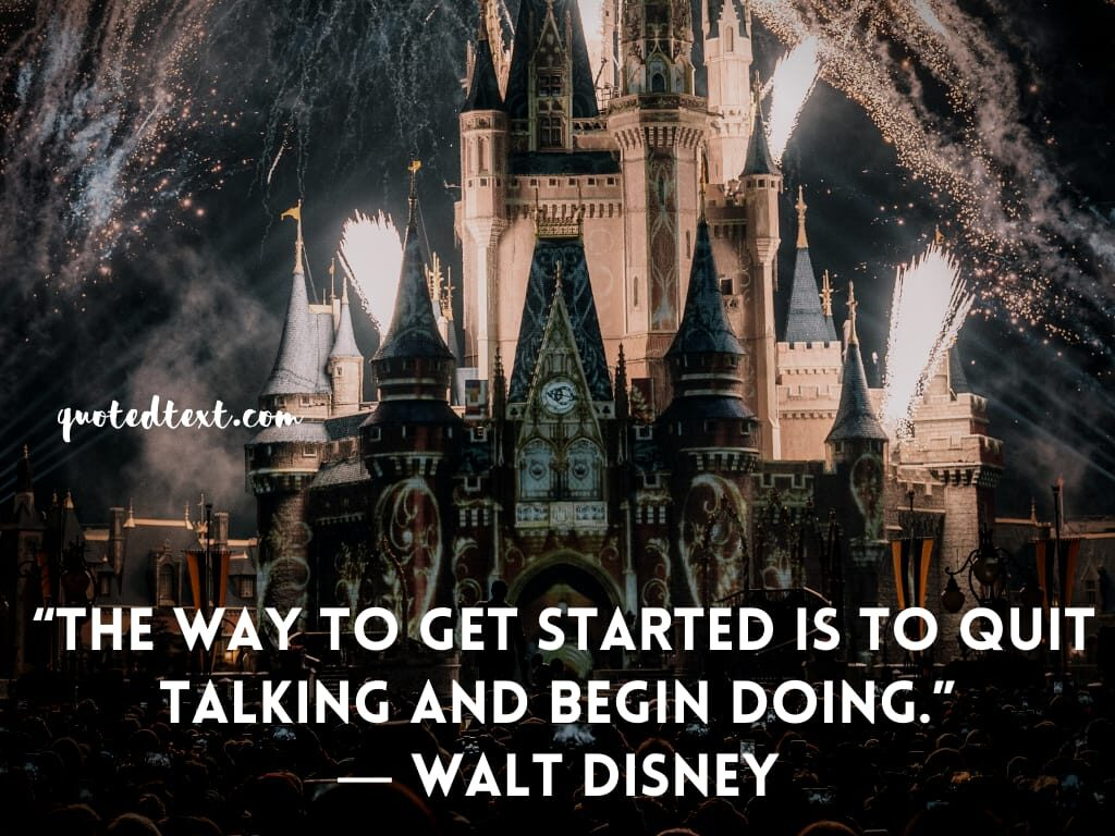 walt disney quotes on beginning