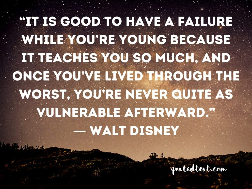 walt disney quotes on failure