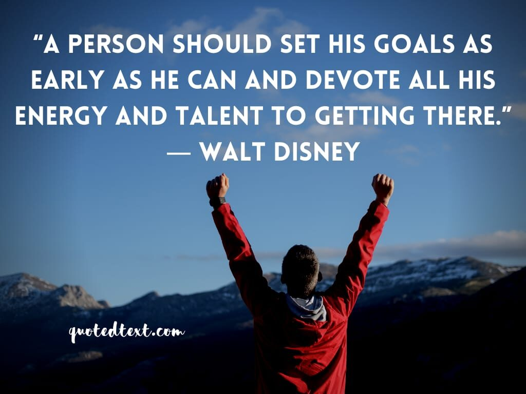 walt disney quotes on goals