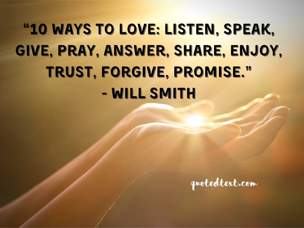 will smith quotes on love