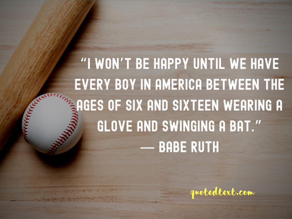 Babe Ruth quotes on childrens