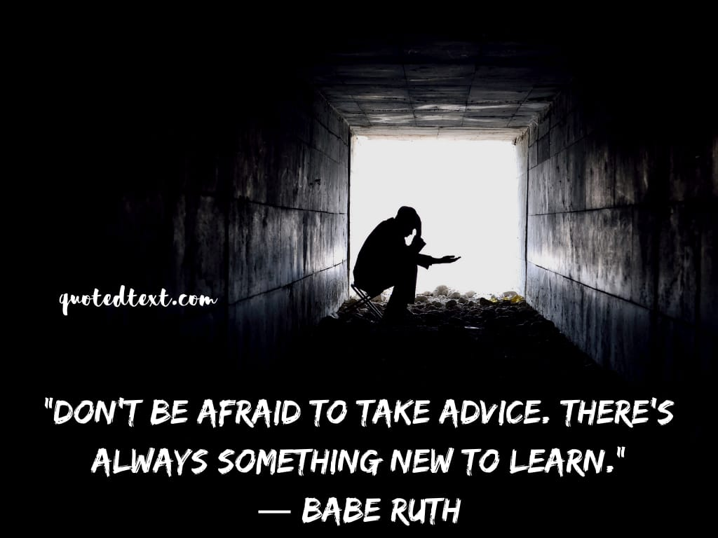 Babe Ruth quotes on learning