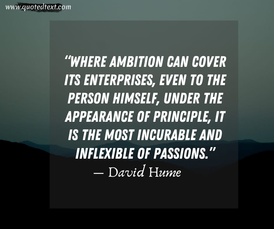 David Hume quotes on ambition