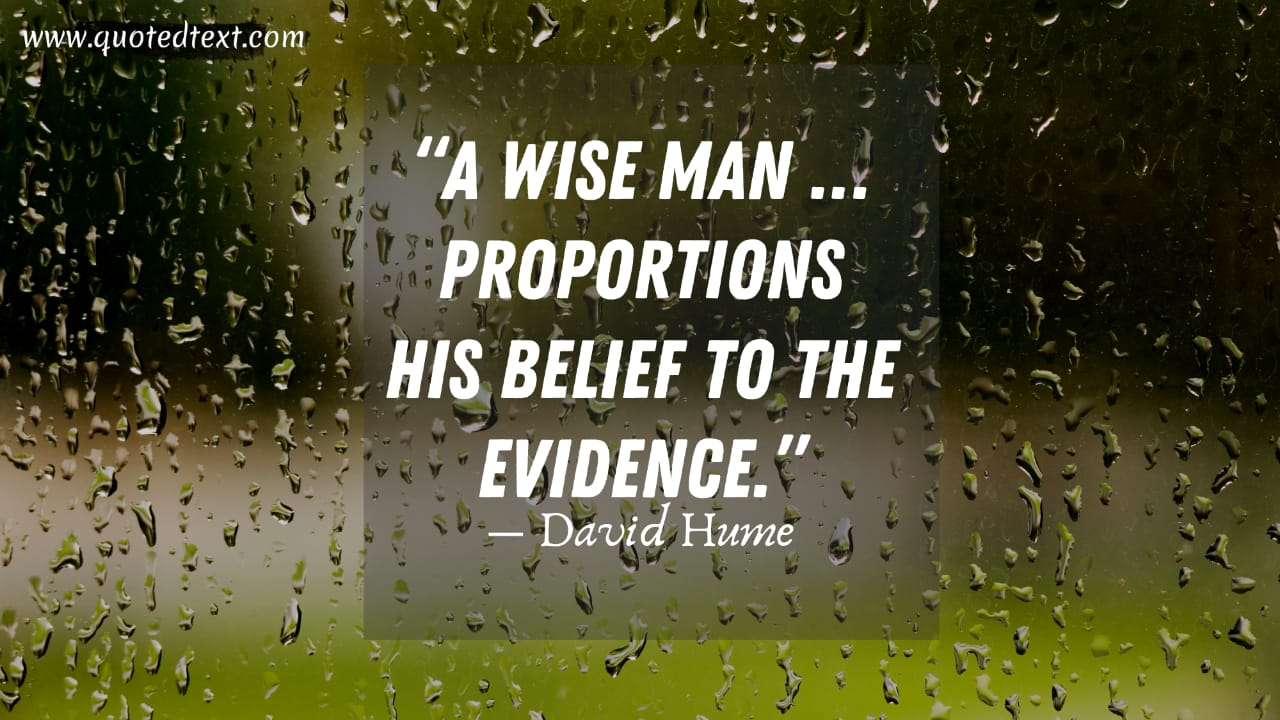 David Hume quotes on be wise