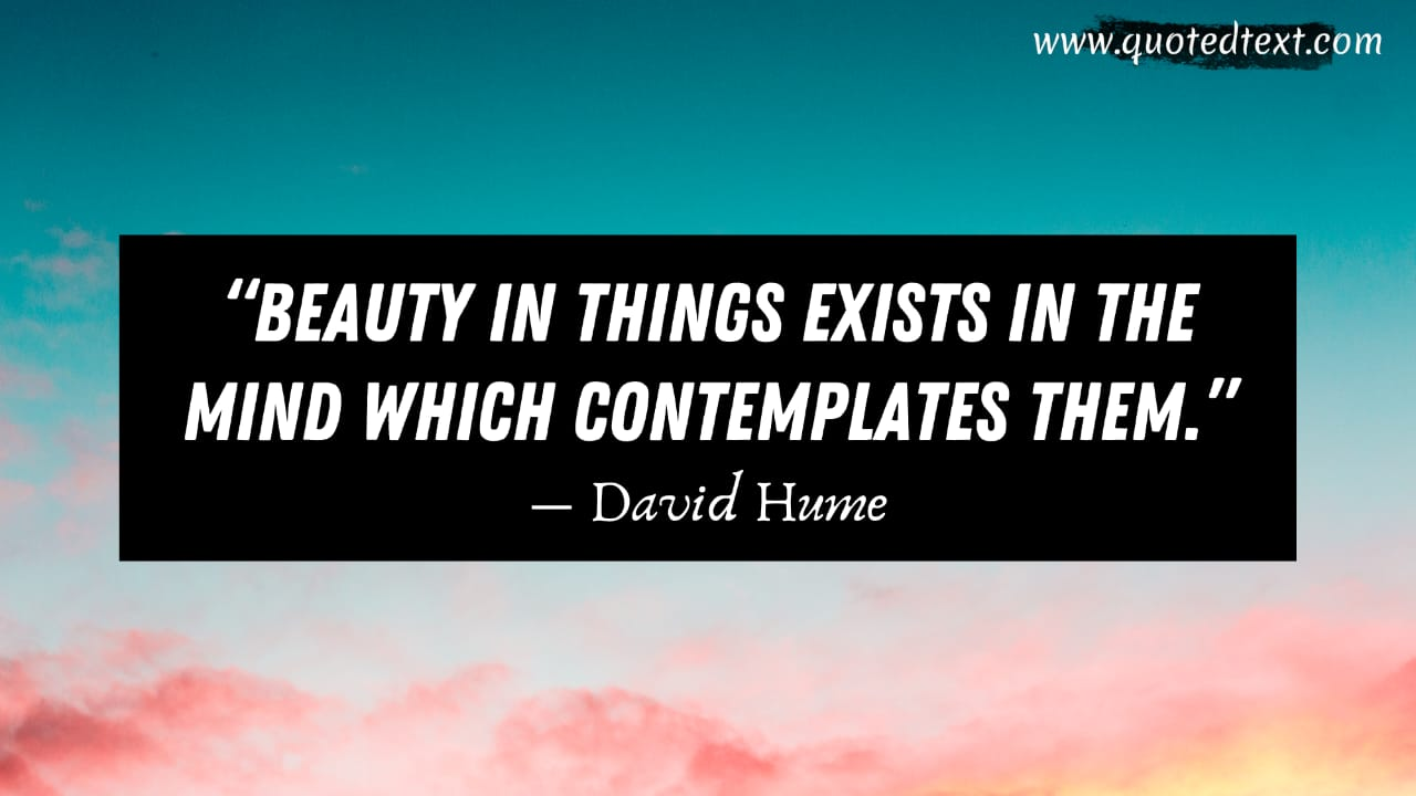 David Hume quotes on beauty