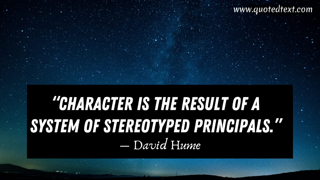 David Hume quotes on character