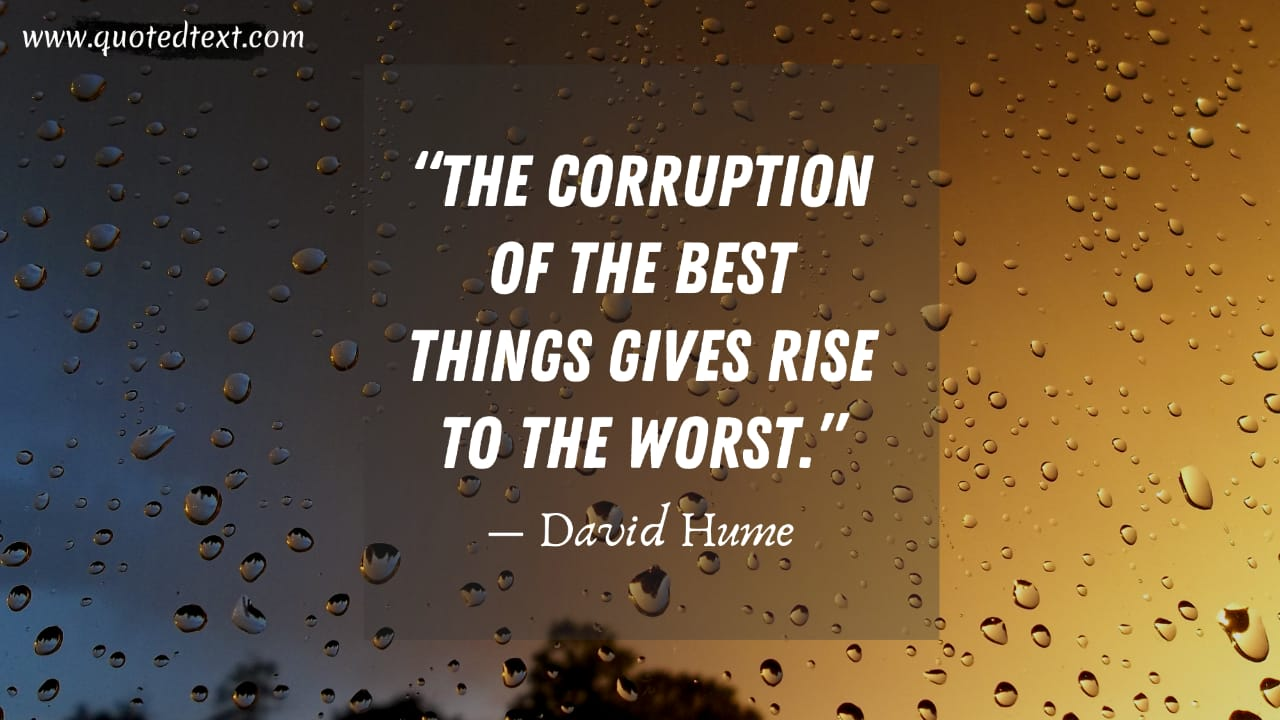 David Hume quotes on corruption