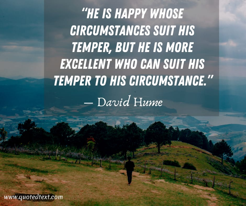 David Hume quotes on happiness