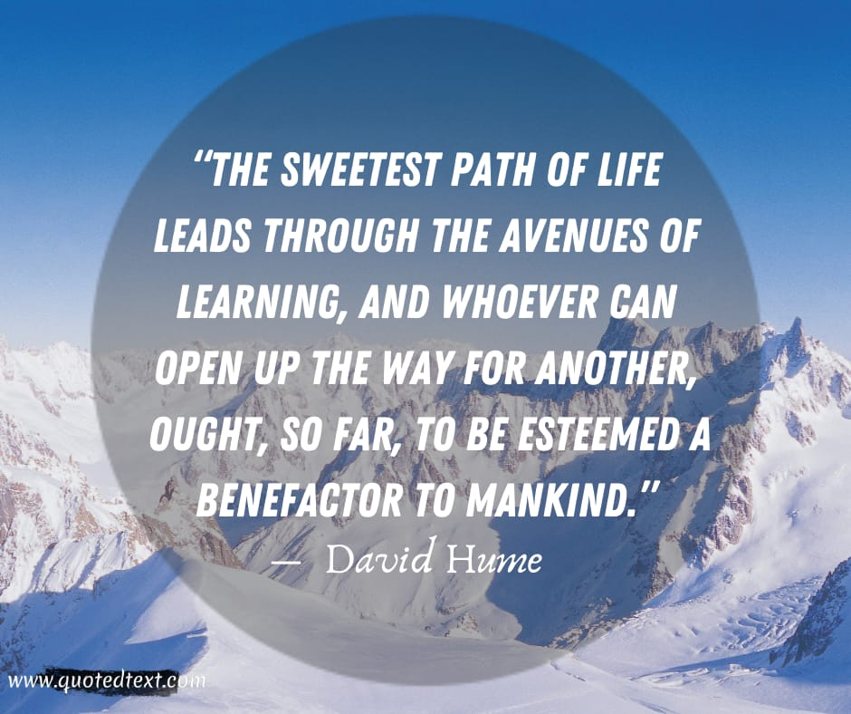David Hume quotes on life