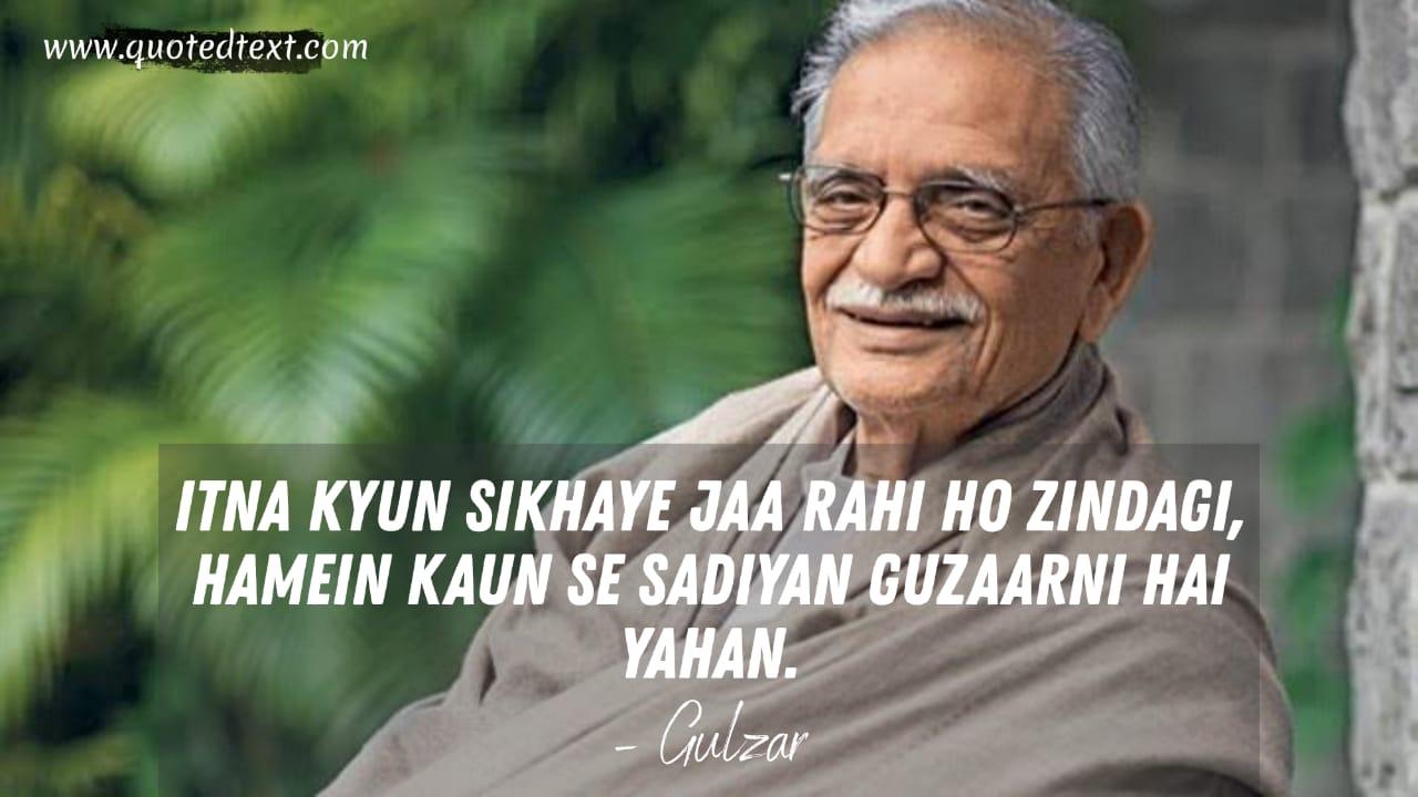 Gulzar writings on life