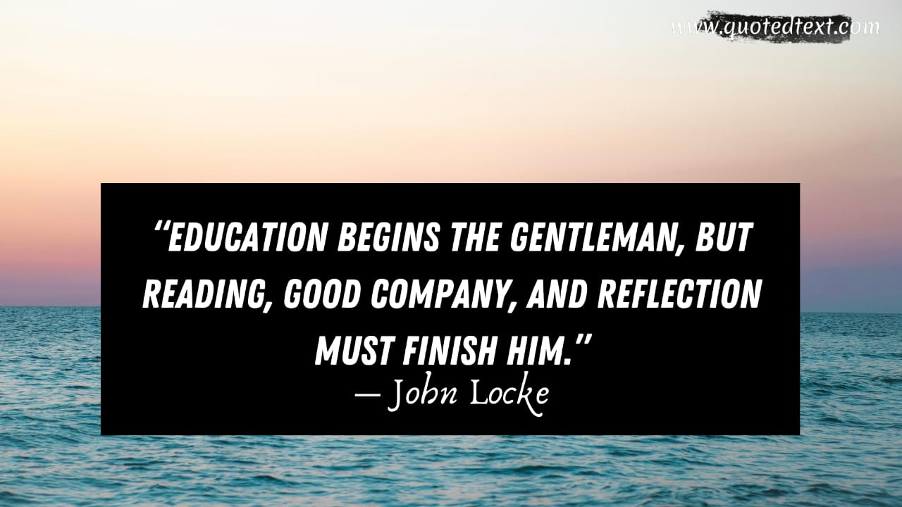 John Locke quotes on education