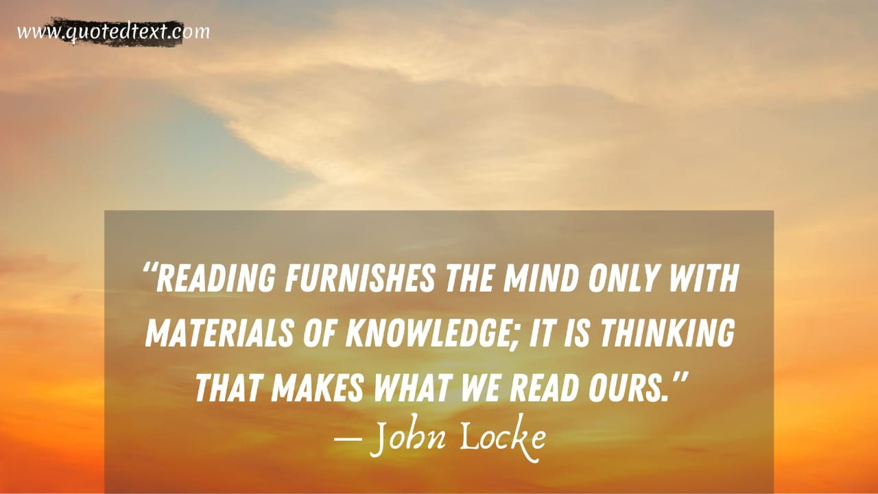 John Locke quotes on reading