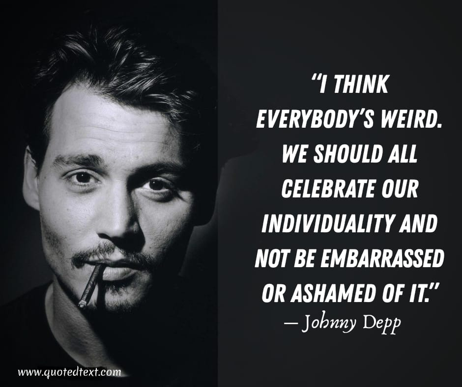 Johnny Depp quotes on be yourself