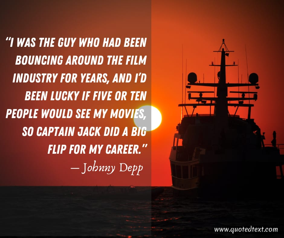 Johnny Depp quotes on career